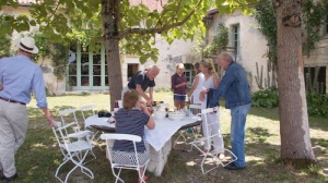 Lunch at Riberac gite